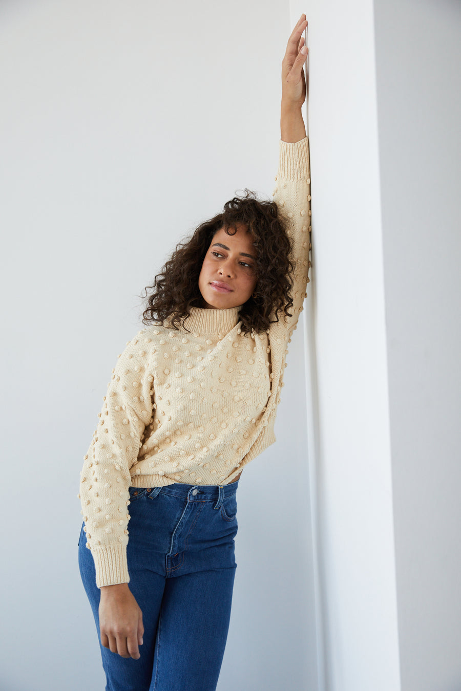 Adult Popcorn Sweater - Macadamia