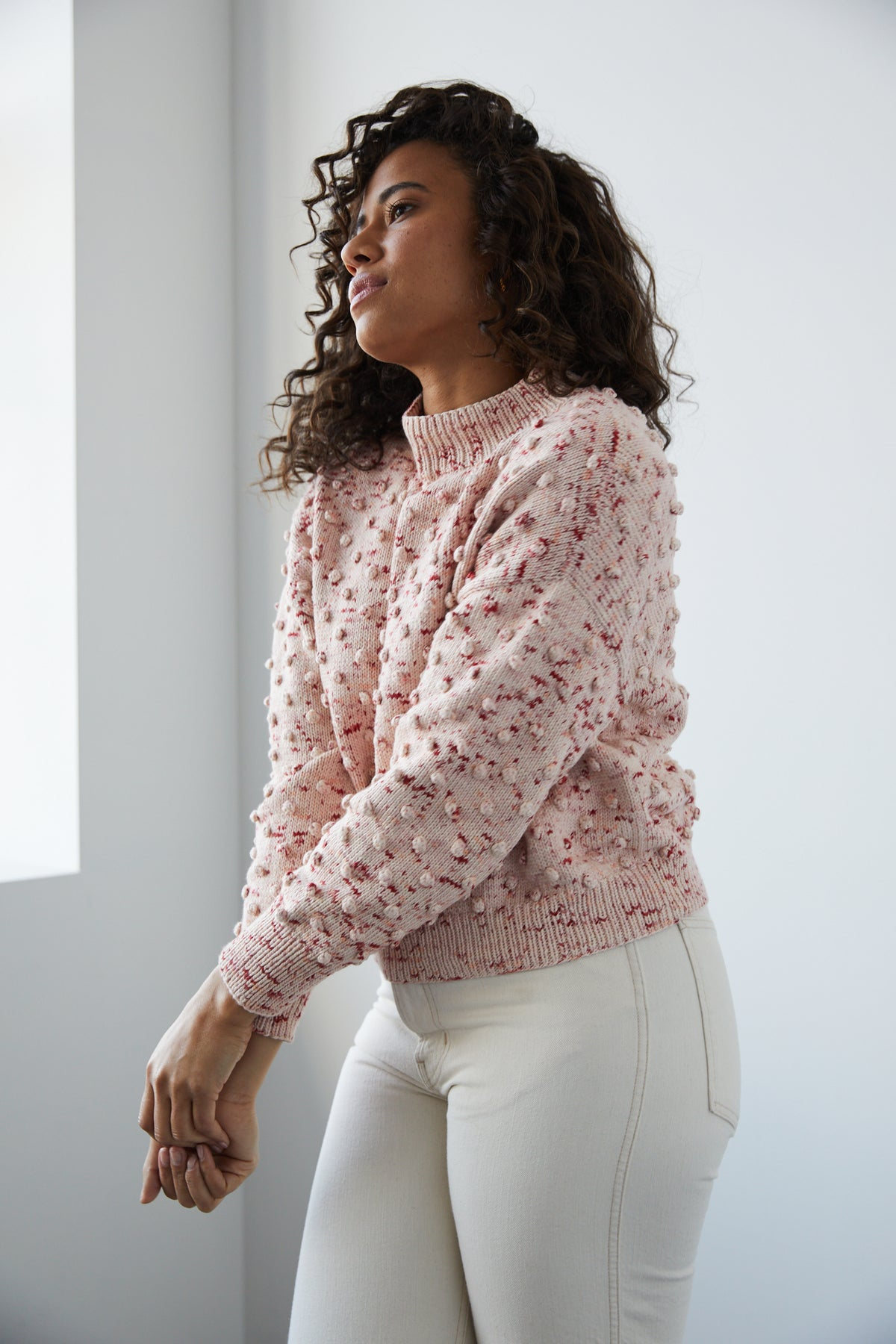 Adult Popcorn Sweater - Poppy Confetti
