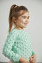 Summer popcorn sweater - mint