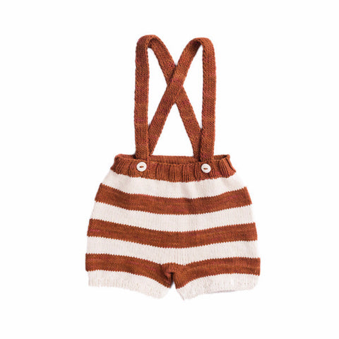 Striped Suspender Shorts