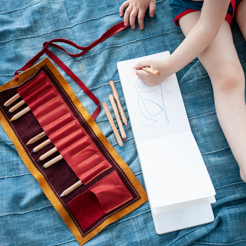Leather Pencil Roll Set
