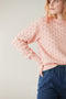 Adult popcorn crew sweater - rose quartz