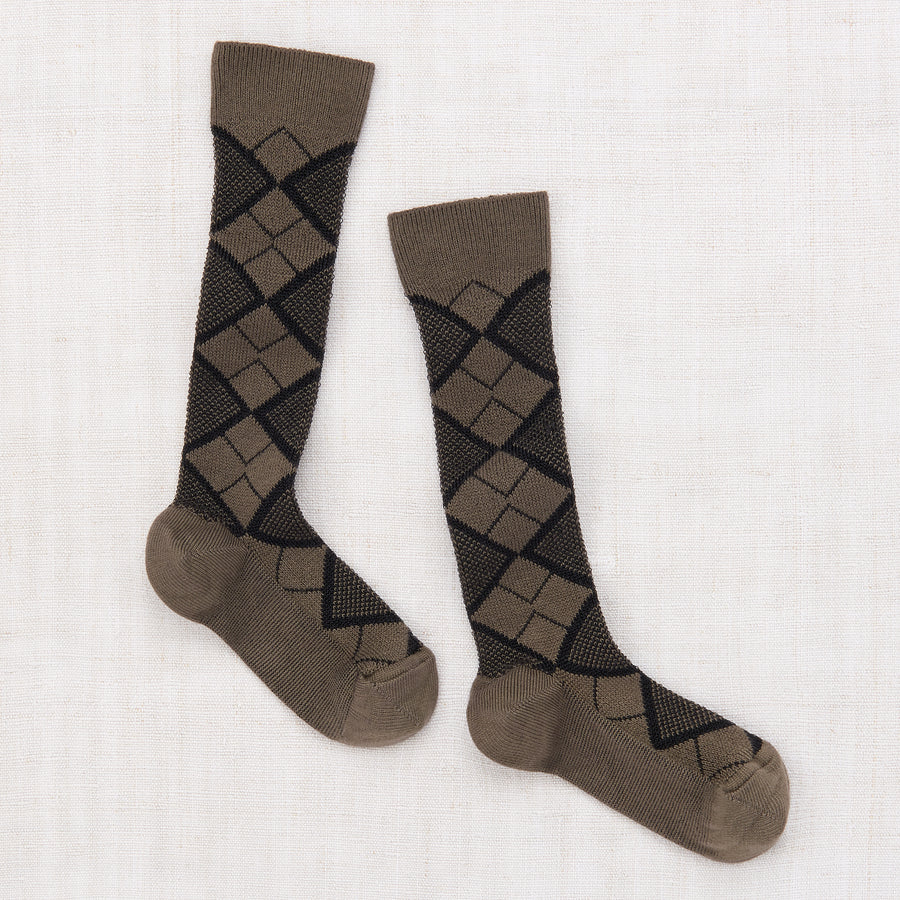 Argyle Knee Socks