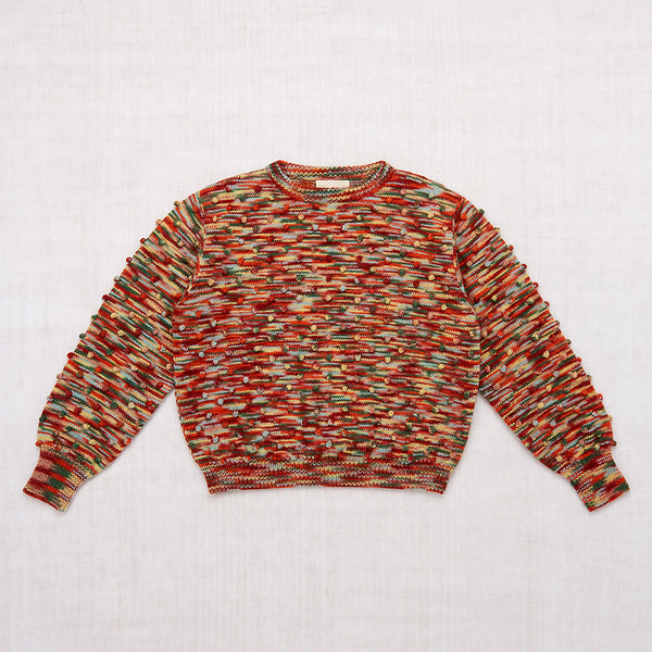Adult Popcorn Crew Sweater - Foliage Space Dye