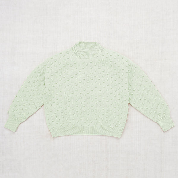 Adult Summer Popcorn Sweater / Faded Mint