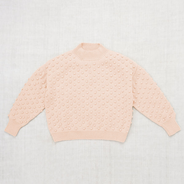 Adult Summer Popcorn Sweater / Faded Peach