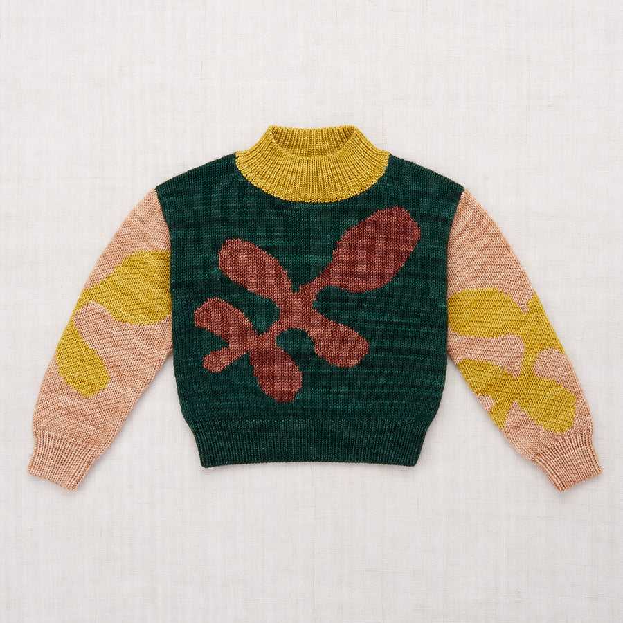 Allover Leaves Sweater