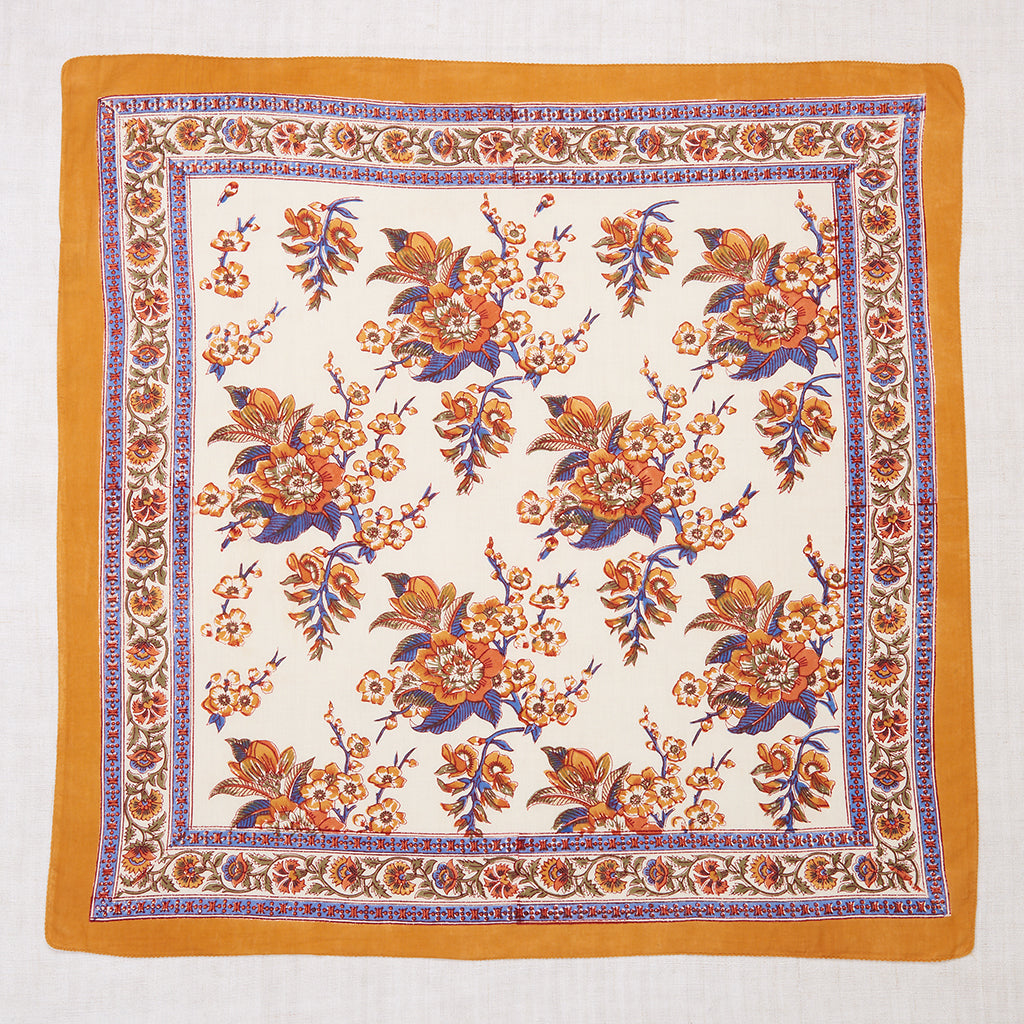 Orange Blossom Print Scarf