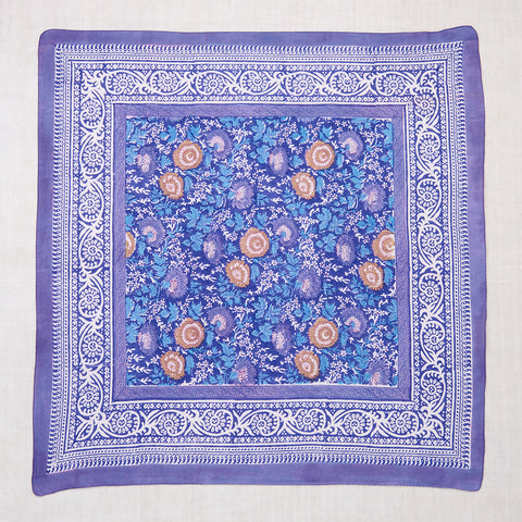 Purple Strawflower Print Scarf