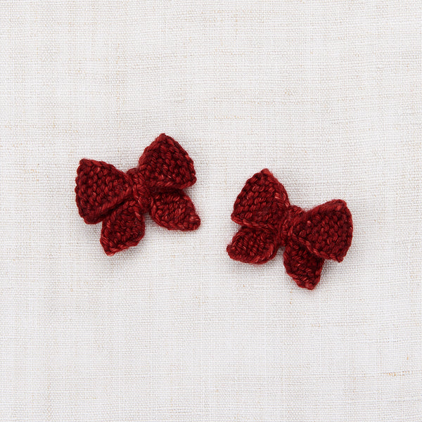 Baby Puff Bow Set - Brick