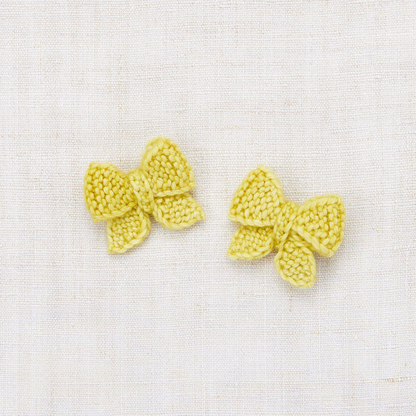 Baby Puff Bow Set - Dijon