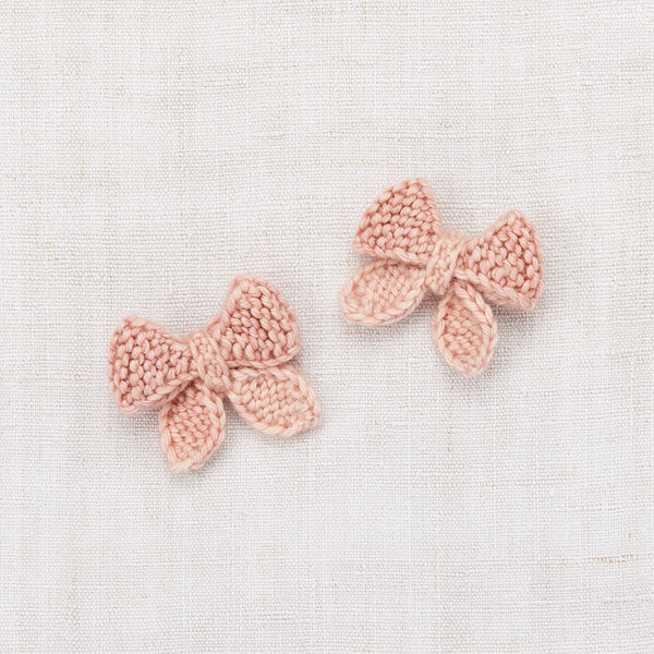 Baby Puff Bow Set - Faded Rose