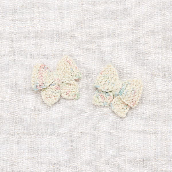 Baby Puff Bow Set - Faded Space Dye
