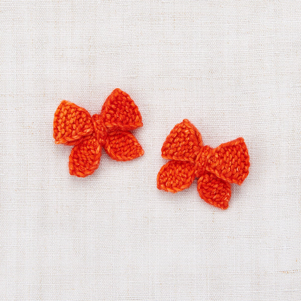 Baby Puff Bow Set - Hot Red
