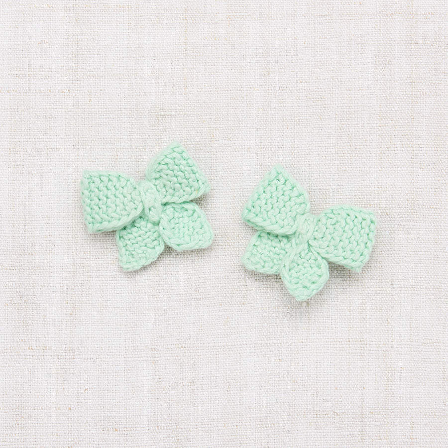 Baby Puff Bow Set - Mint
