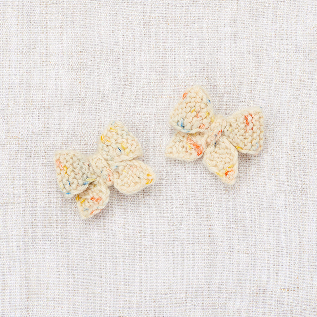 Baby Puff Bow Set - Primary Color Confetti