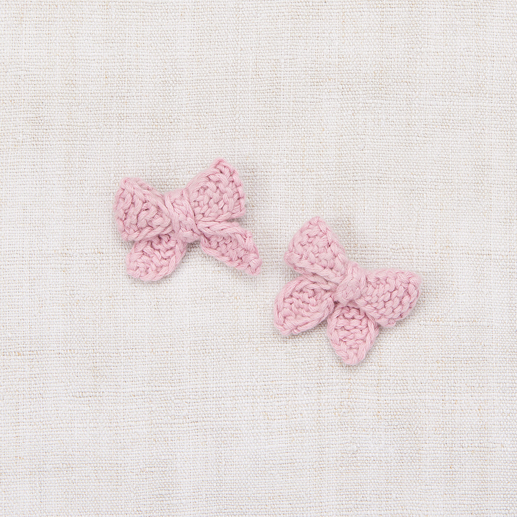 Baby Puff Bow Set - Soft Purple