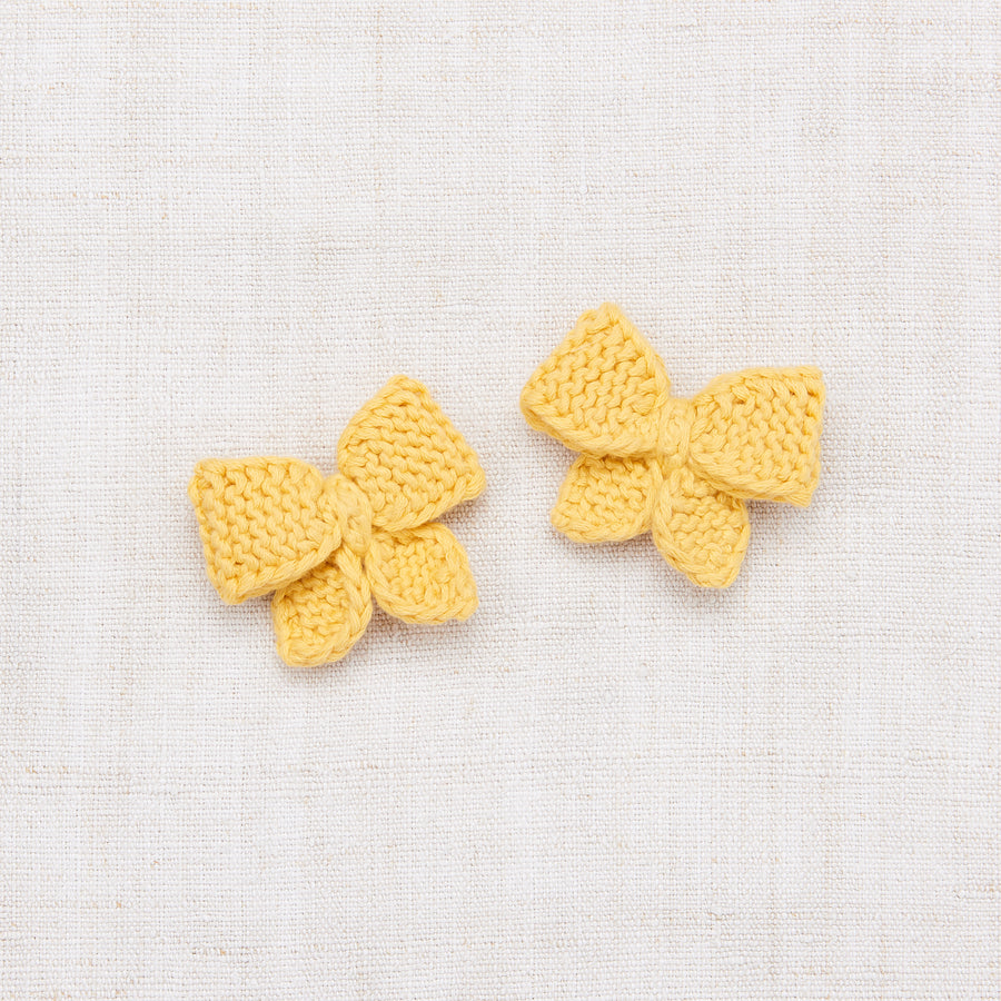 Baby Puff Bow Set - Sunflower