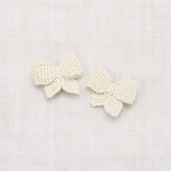Baby Puff Bow Set - Vanilla