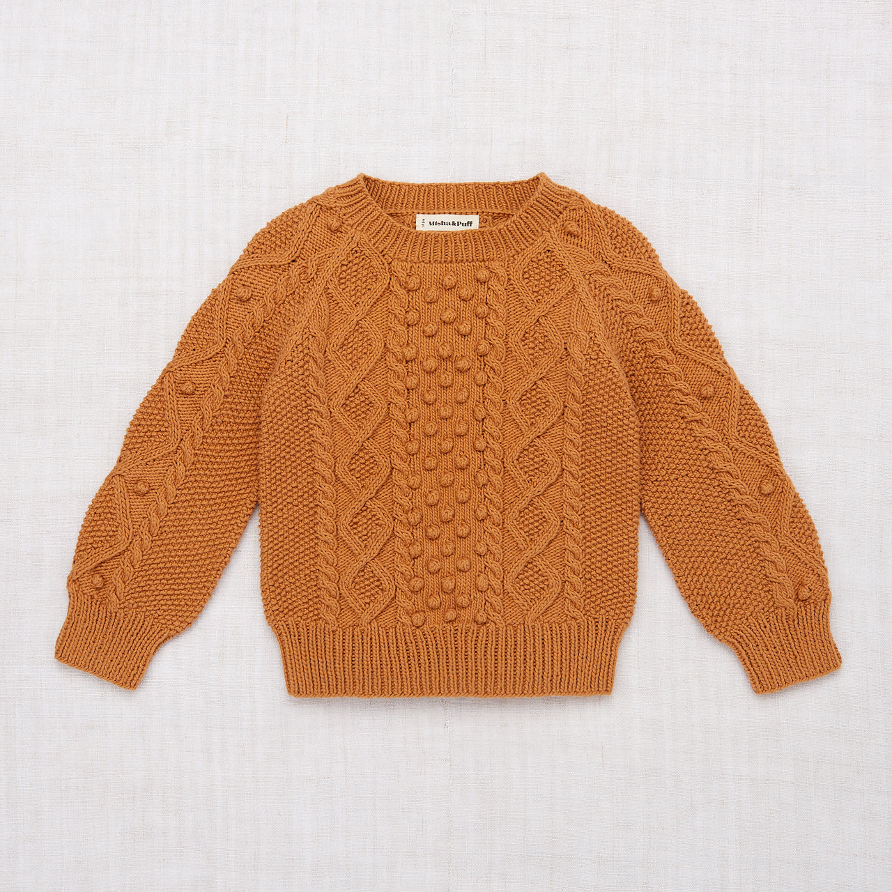 Cable Popcorn Sweater - Caramel