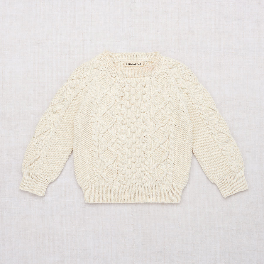 Cable Popcorn Sweater - Vanilla
