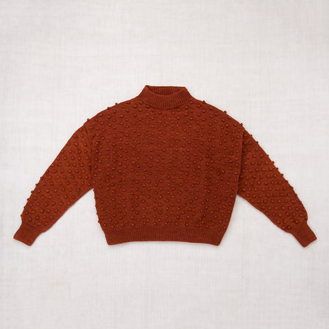Adult Cotton Popcorn Sweater / Terracotta