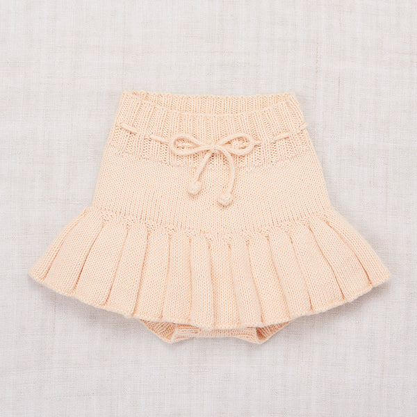 Faded Peach Cotton Skating Pond Skirt