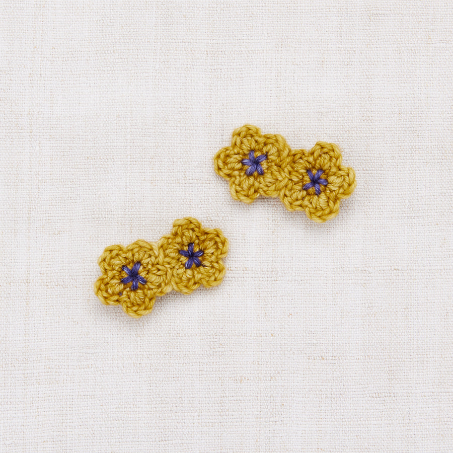 Mini Crochet Flower Clip Set
