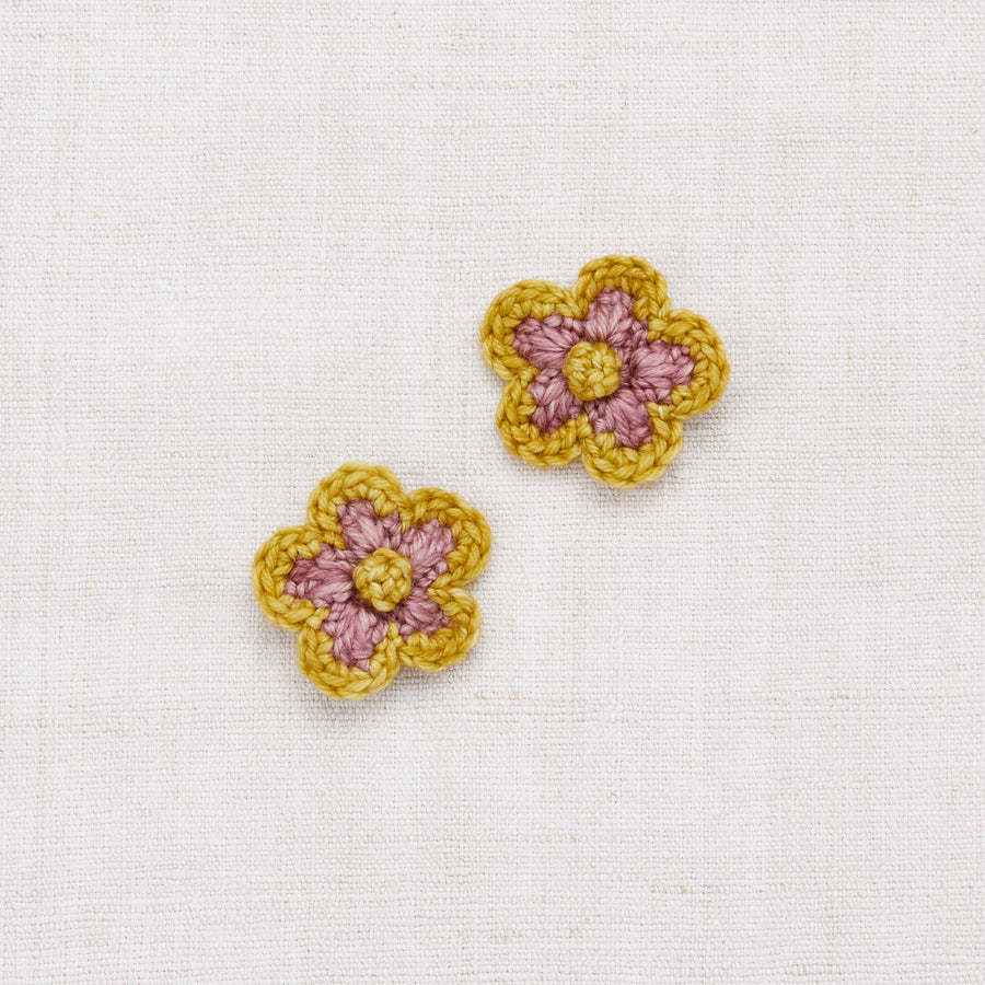 Medium Crochet Flower Clip