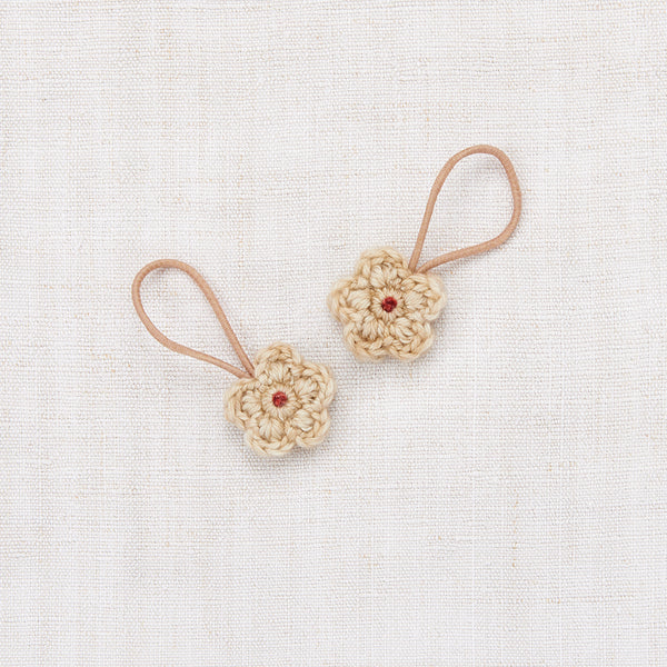 Crochet Flower Elastic Set - Alabaster