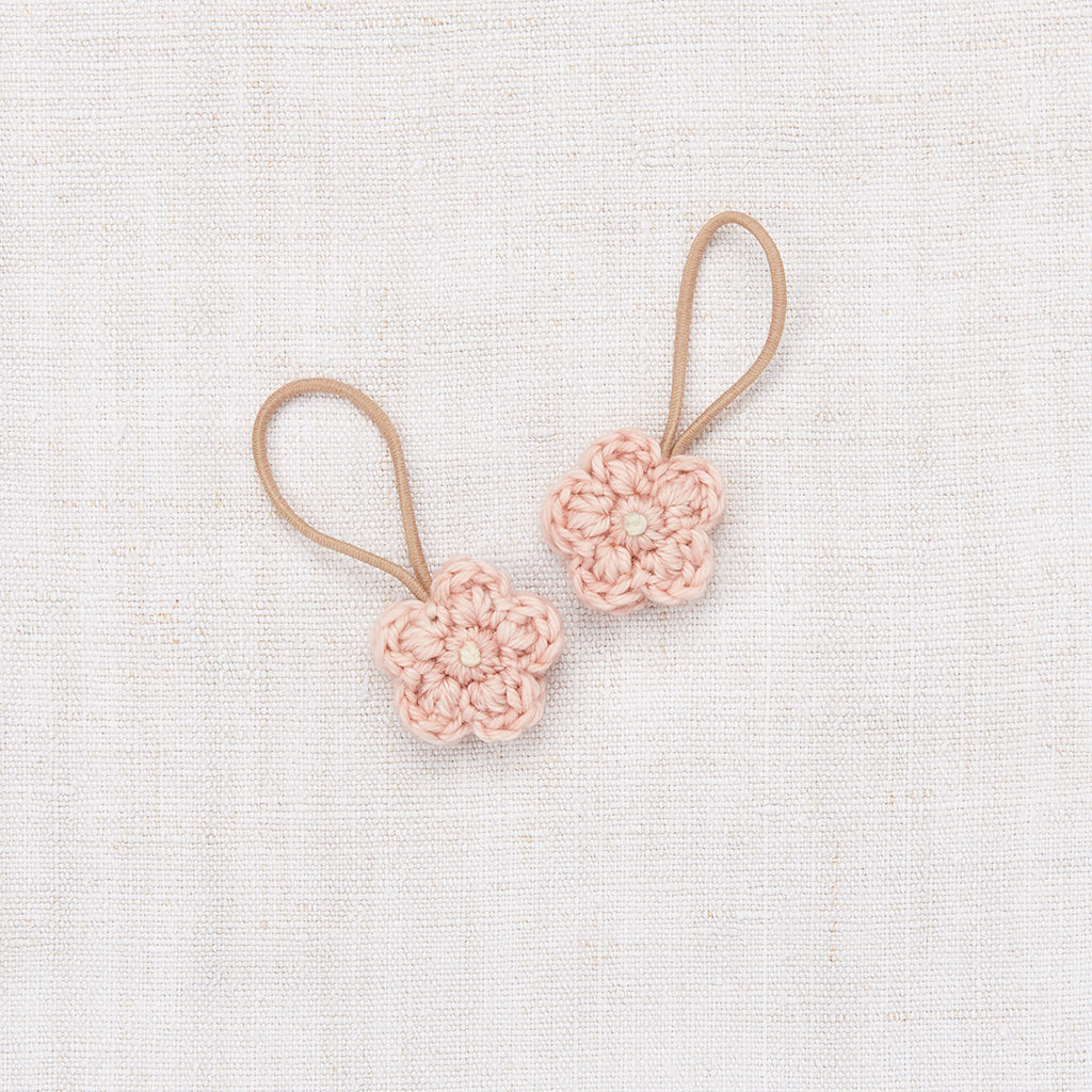 Crochet Flower Elastic Set / Faded Rose