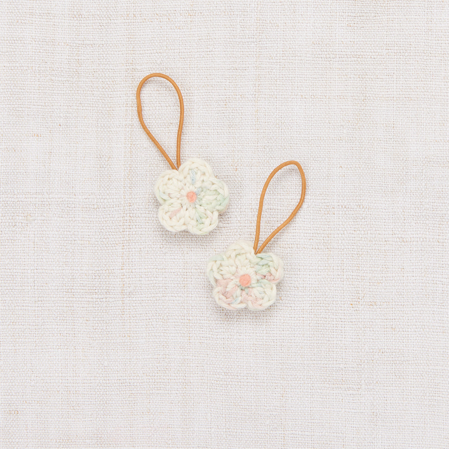 Crochet Flower Elastic Set - Faded Space Dye/Coral