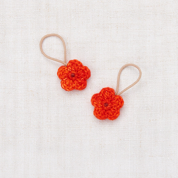 Crochet Flower Elastic Set - Hot Red