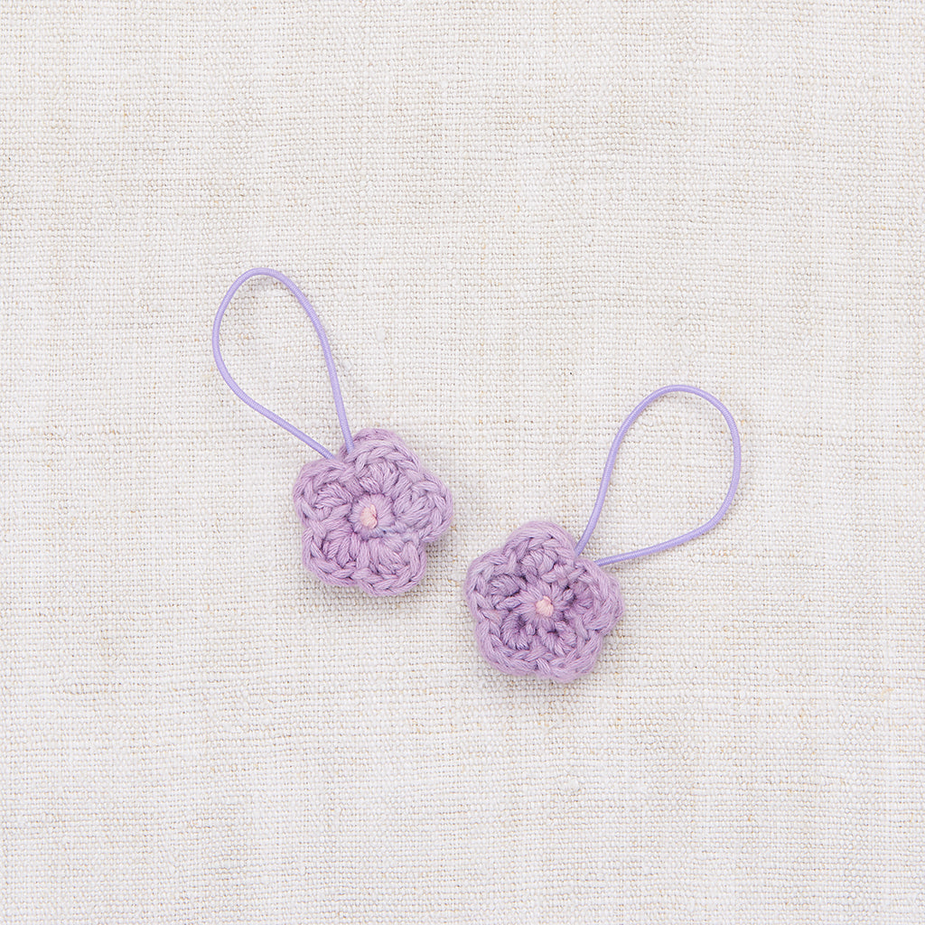 Crochet Flower Elastic Set - Lavender/ Soft Purple