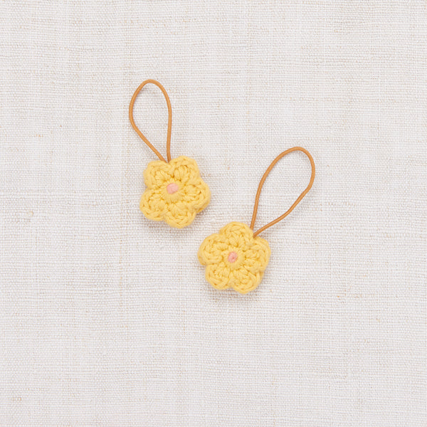 Crochet Flower Elastic Set - Sunflower/Coral