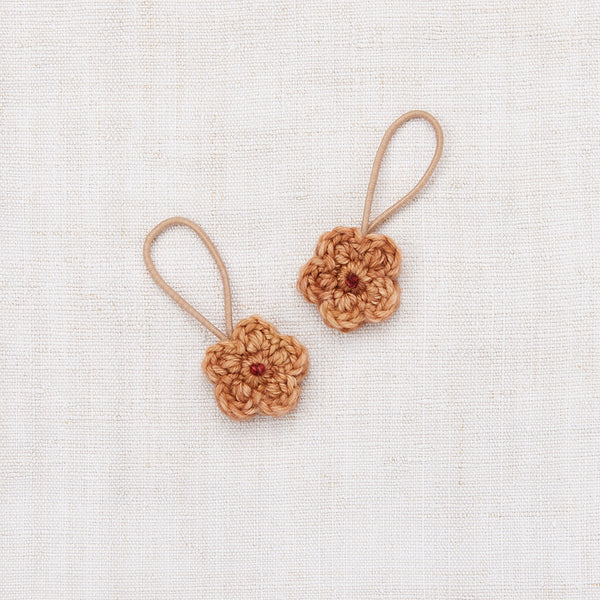Crochet Flower Elastic Set - Rose Gold