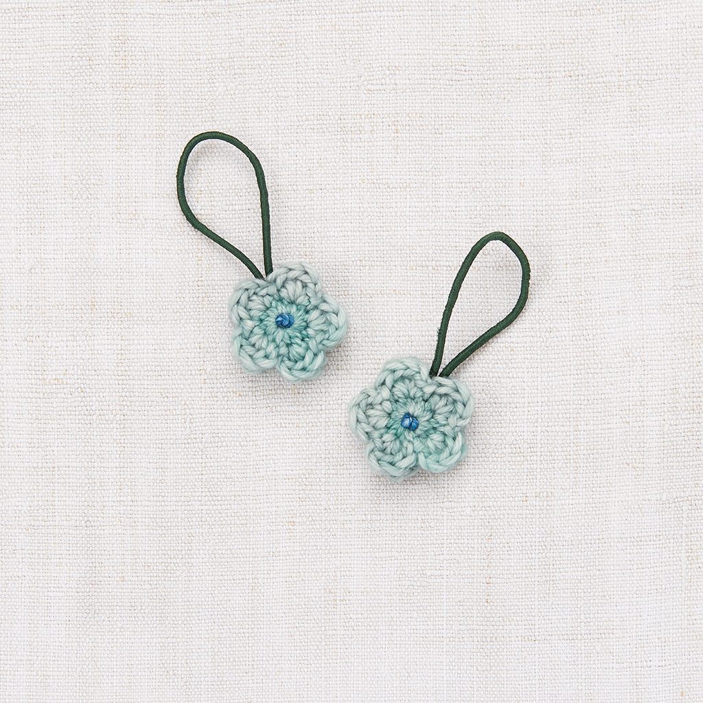 Crochet Flower Elastic Set - Sage