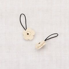 Crochet Flower Elastic Set - String/ Black Walnut