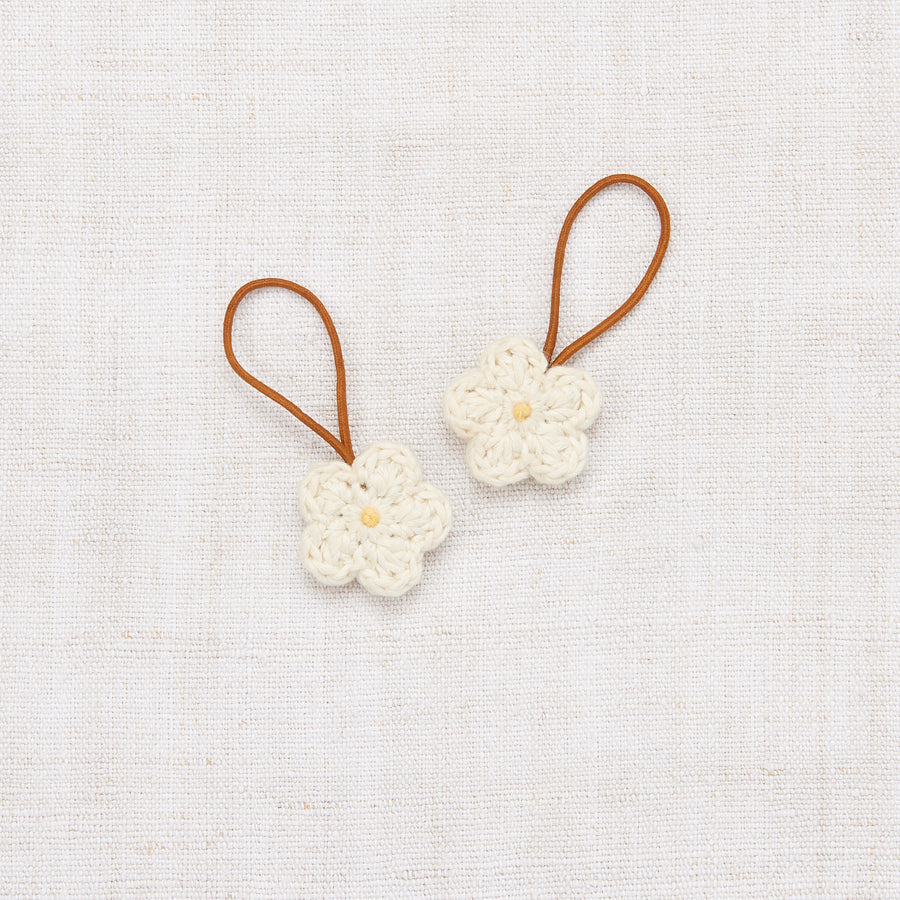 Crochet Flower Elastic Set - Vanilla/Sunflower