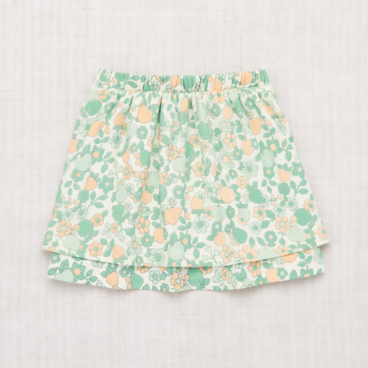 Double Skirt - Mint Orchard Print