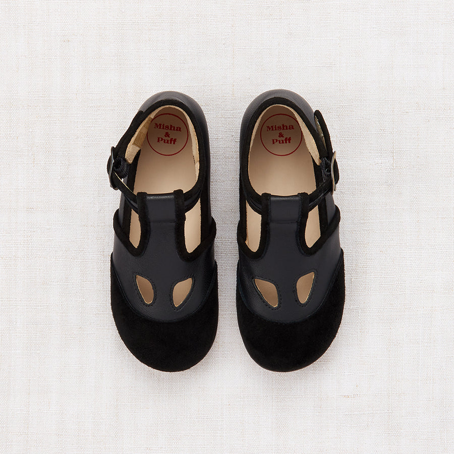 Elmwood T-Strap Shoes - Black