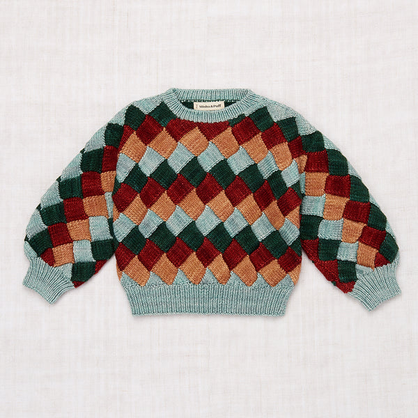 Entrelac Sweater - Laurel