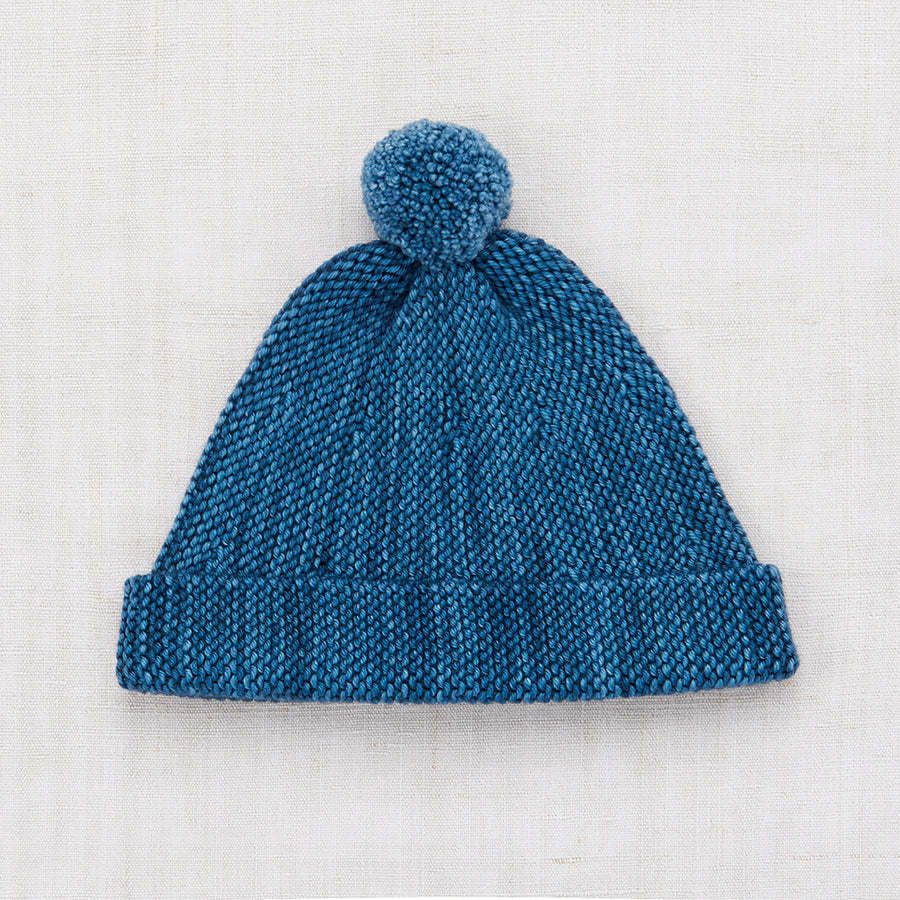 Garter Hat - Blue Smoke