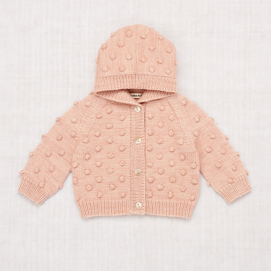 Layette Popcorn Hooded Cardigan
