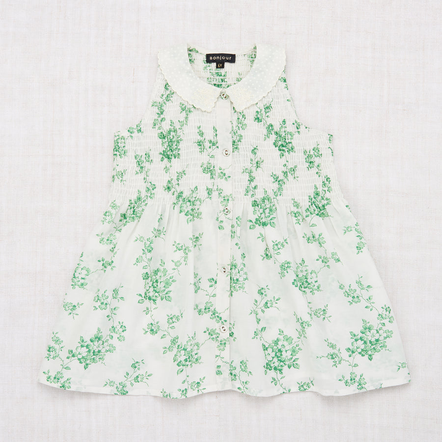 Ibiza Blouse - Green Flower Print