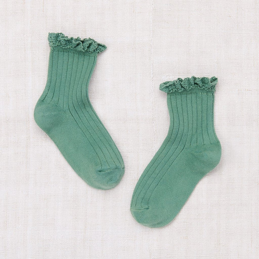 Lace Ankle Socks - Celedon