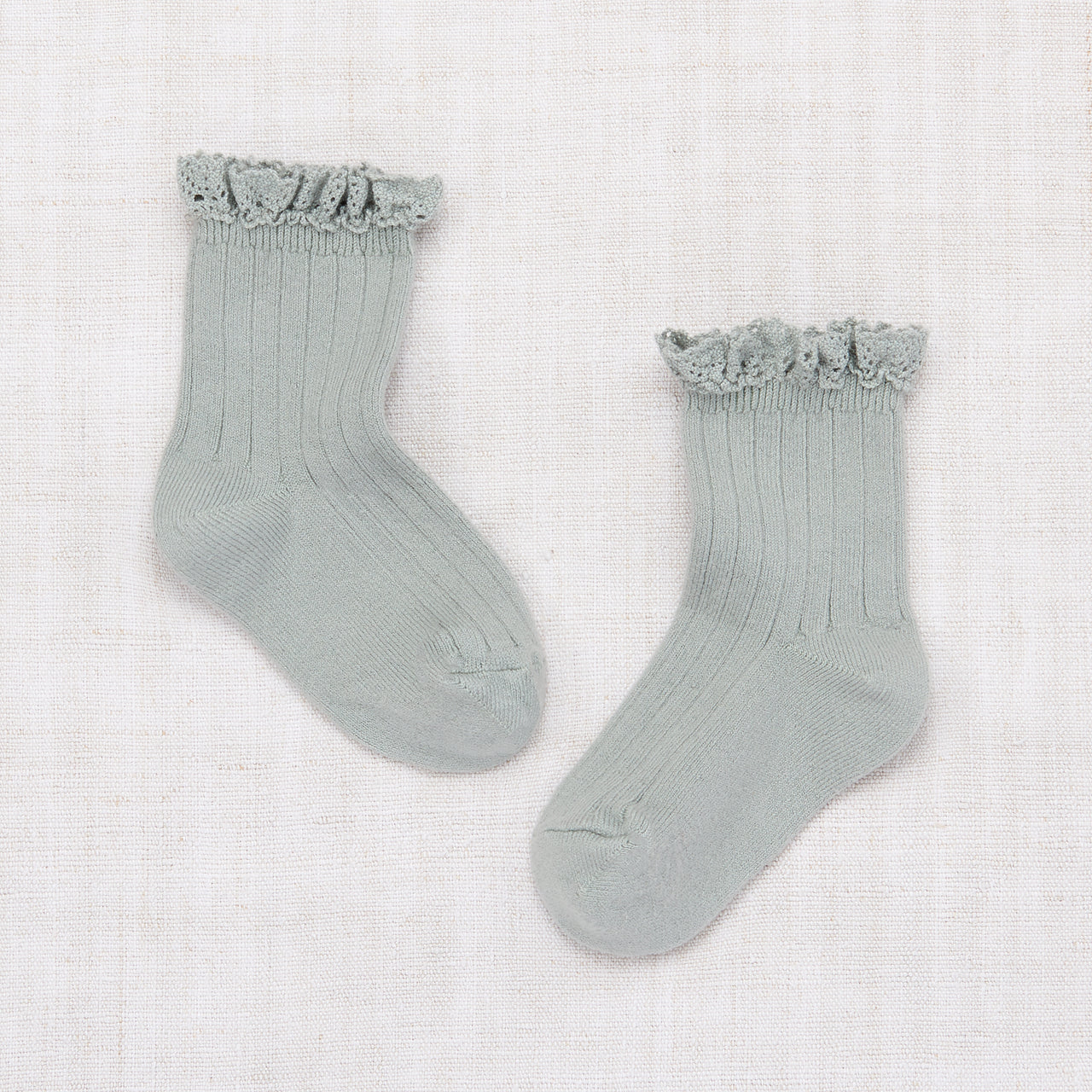 Lace Ankle Socks - Mint