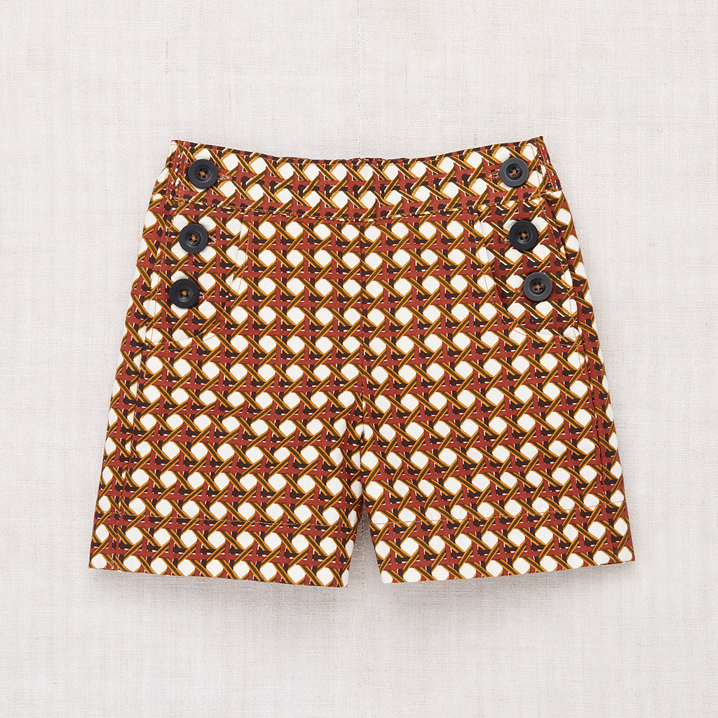 Lattice Canvas Shorts