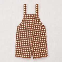 Lattice Short Canvas Overall