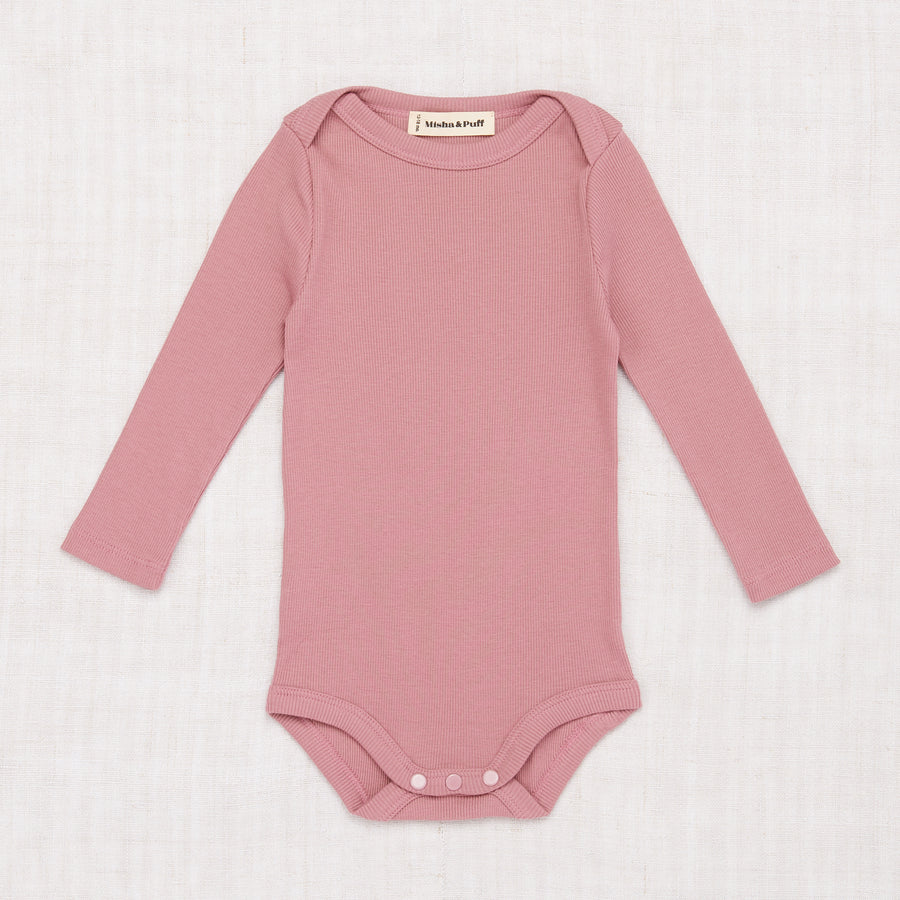 Ribbed Long Sleeve Lap Onesie